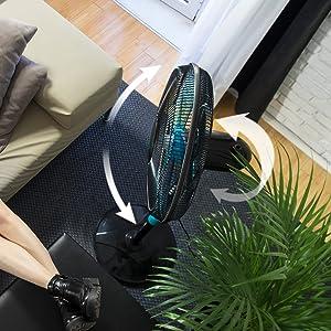 Cecotec Ventilador de Pie EnergySilence 510. 5 Aspas, Oscilante, 3 ...
