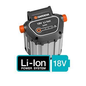 Set cortacésped con batería PowerMax Li-18/32 de GARDENA: segadora hasta 230 m², ancho de corte 32 cm, vol. 30 l, altura de corte 20-60 mm, manillar ...