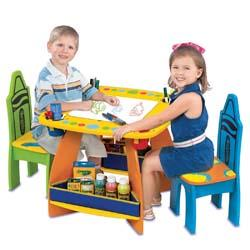 9001. Crayola Wooden Table and Chairs Set ...  sc 1 st  Amazon.com & Amazon.com: Crayola Wooden Table And Chair Set: Toys \u0026 Games