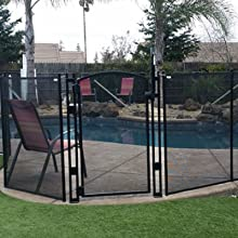 Amazon Com Sentry Safety Pool Fence Ez Guard 4 Tall Self