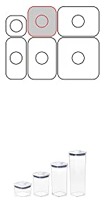 OXO ポップコンテナ オクソー 密閉 密封 容器 収納 保存 キャニスター コンテナ スタッキング 重なる 人気 ランキング おすすめ 乾物 調味料 ペット フード  塩 砂糖 小麦粉 米 保管