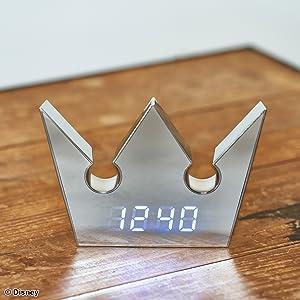 キングダム ハーツの王冠アイコン型デジタルクロックが登場