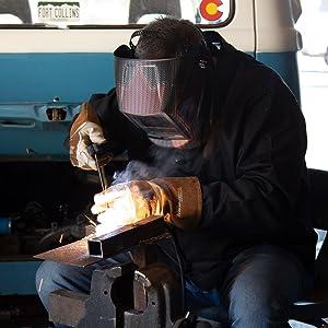 welding, stick, Saulder, helmet, work, heat