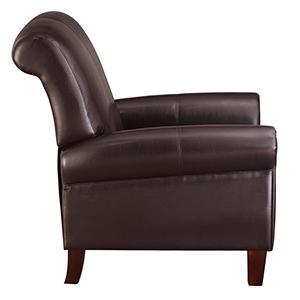 Amazon.com: Dorel Living Elegant Faux Leather Club Chair: Kitchen ...