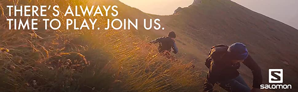 THere's always time to play, Join us. salomon sports technical outdoor and athletic clothing