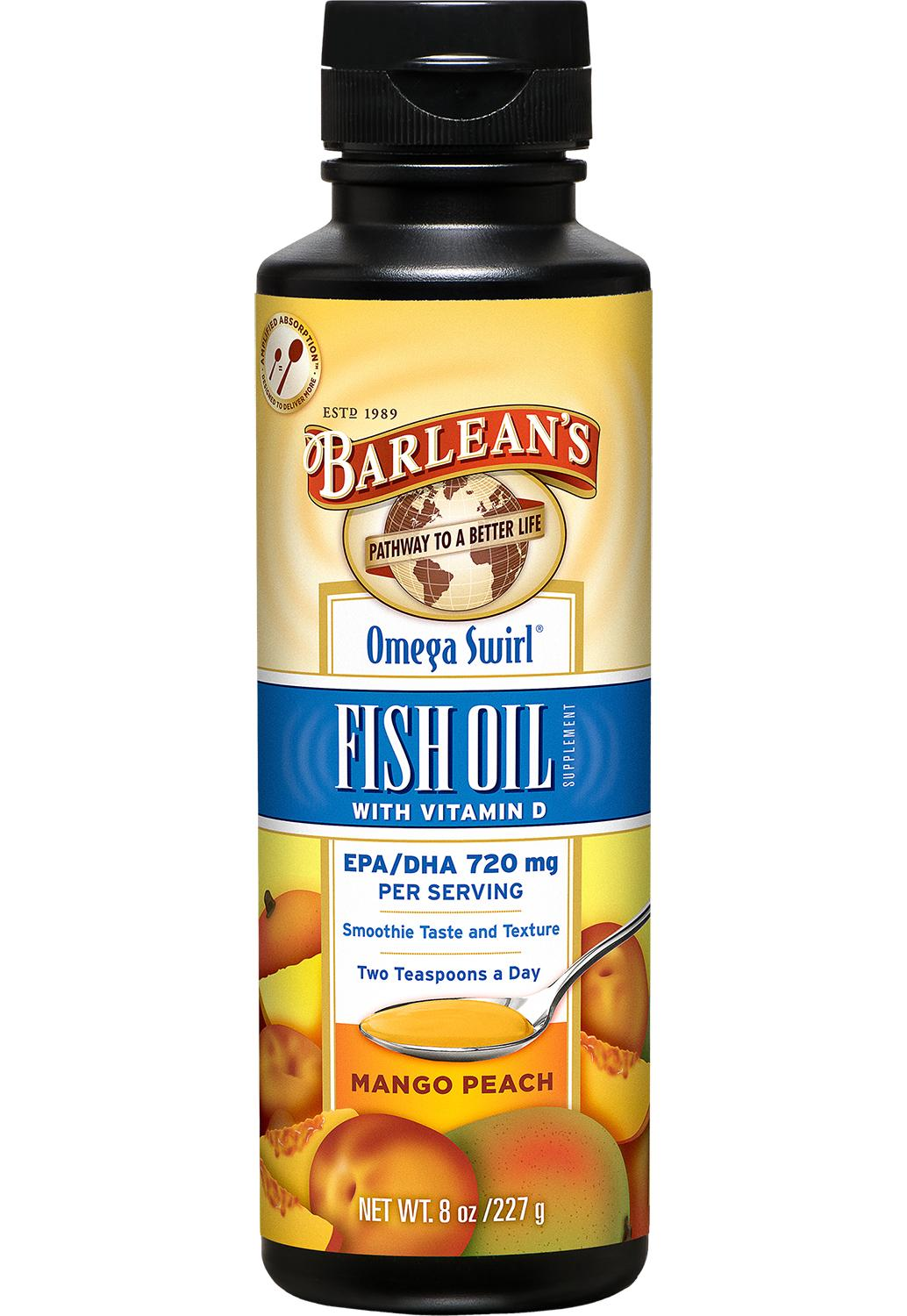 Barlean s omega swirl fish oil mango peach 8 oz amazon for Daily recommended fish oil