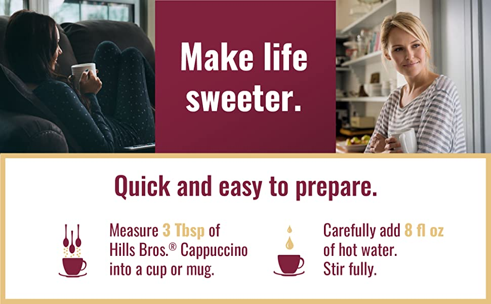 Make life sweeter. Quick and easy to prepare.