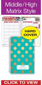 high school middle student planner 2018-2019 agenda organize