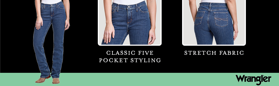 Amazon Com Wrangler As Real As Wrangler Jean De Corte Clasico Para Botas Clothing