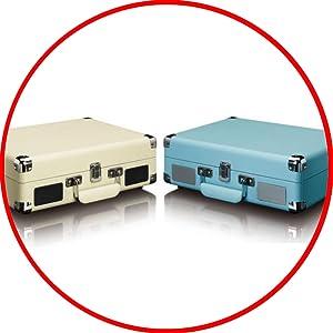 Tocadiscos LENCO TT-11BU Color Azul, Retro, 3 velocidades ...