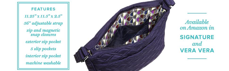 Vera Bradley Women s Double Zip Mailbag Bohemian Blooms Cross Body ... fb09ac125651d