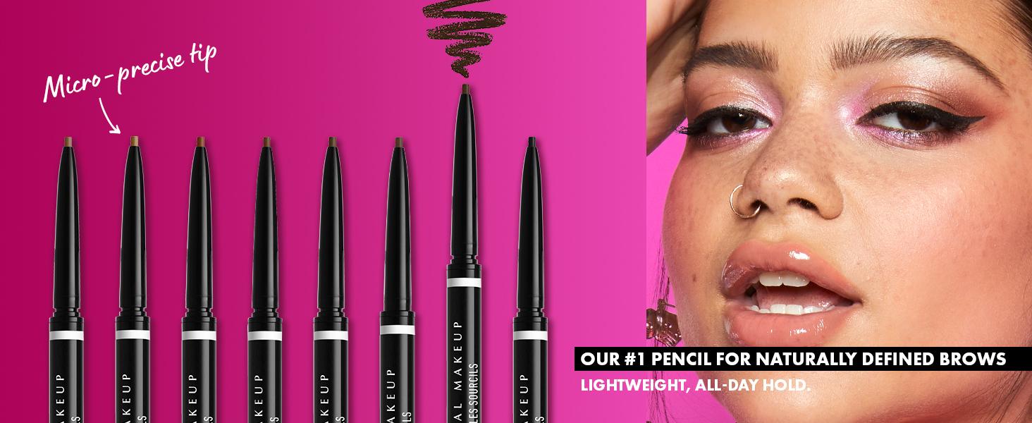 nyx micro brow pencil eyebrow pencil fine tip spoolie