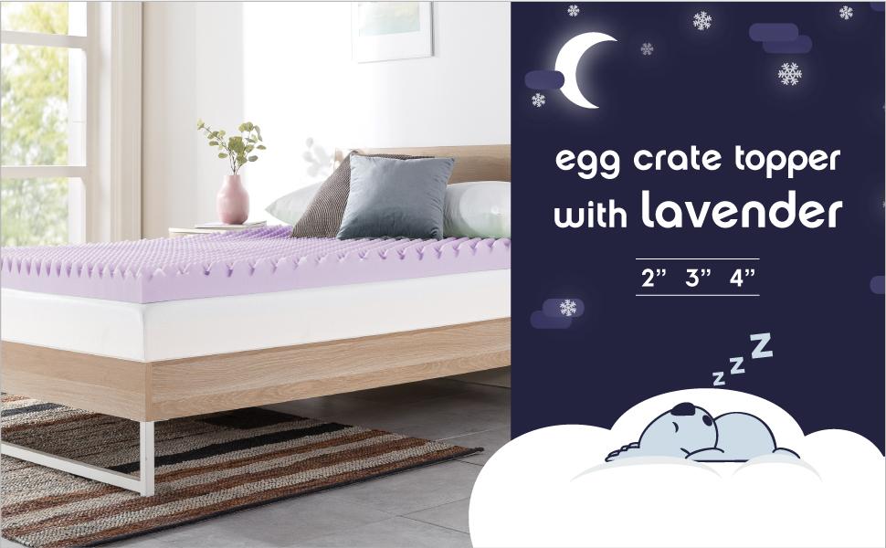 Egg Crate Topper Lavender
