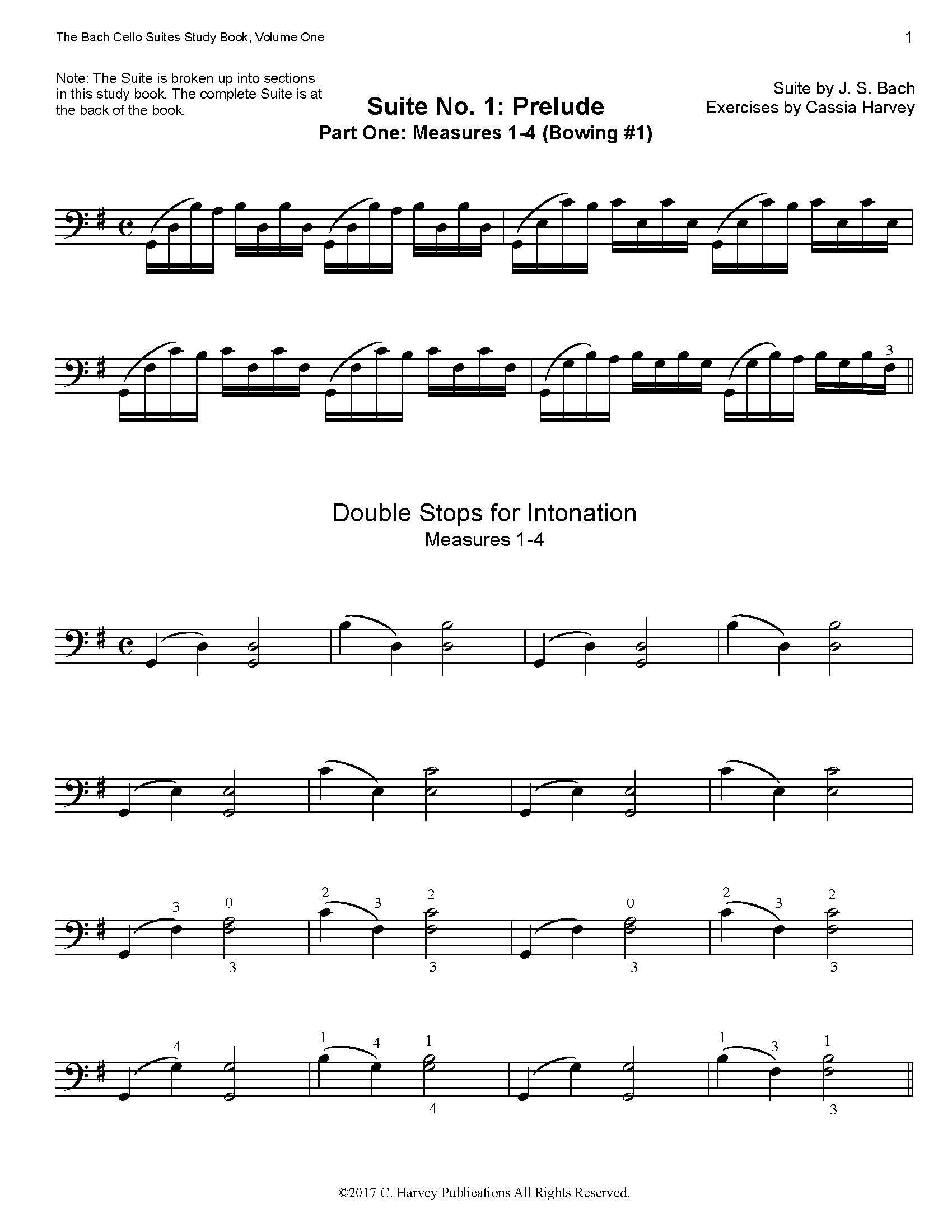 Amazoncom The Bach Cello Suite No 1 Study Book