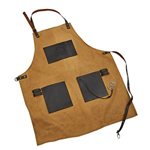 apron, cooking apron, grilling apron, gift, dad present, leather apron, outdoor cooking, camping