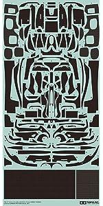 タミヤ 1/24 ディテールアップパーツシリーズ No.56 ラフェラーリ カーボンスライドマーク プラモデル用パーツ 12656