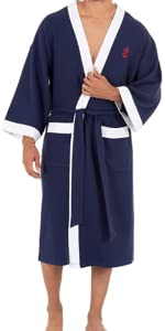 knit robe, mens robe, mend lightweight robe, Izod robe