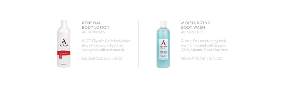 Renewal Body Lotion;Moisturizing Body Wash