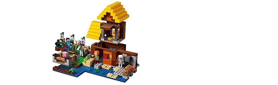 lego minecraft 21144 farmh uschen kinderspielzeug. Black Bedroom Furniture Sets. Home Design Ideas