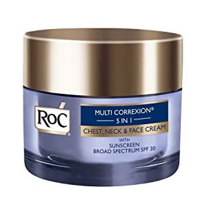 RoC Multi Correxion 5 in 1 Anti-Aging Cream for Chest, Neck and Face with SPF 30, Moisturizing Cream