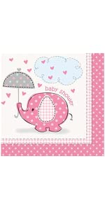 Pink Elephant Girl Baby Shower Plates, 8ct · Pink Elephant Girl Baby Shower  Dessert Plates, 8ct · Pink Elephant Girl Baby Shower Napkins, 16ct ...