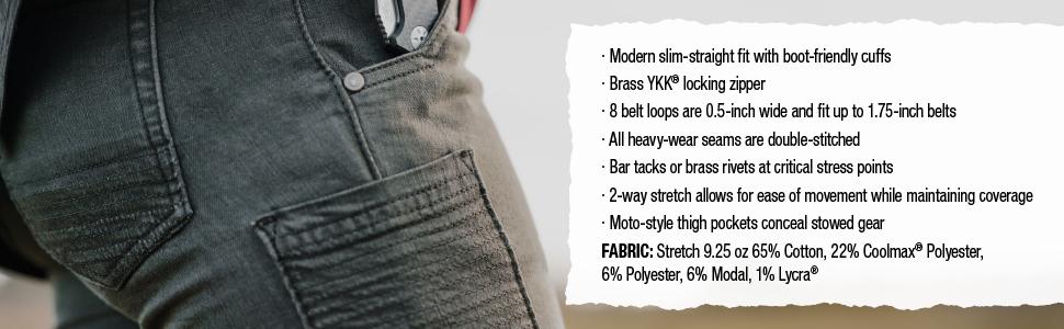 kesher, jean, stretch, coolmax, vertx, comfort, durability, tactical, ccw, everyday, women's pants