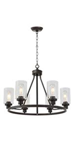 6-light farmhouse chandelier