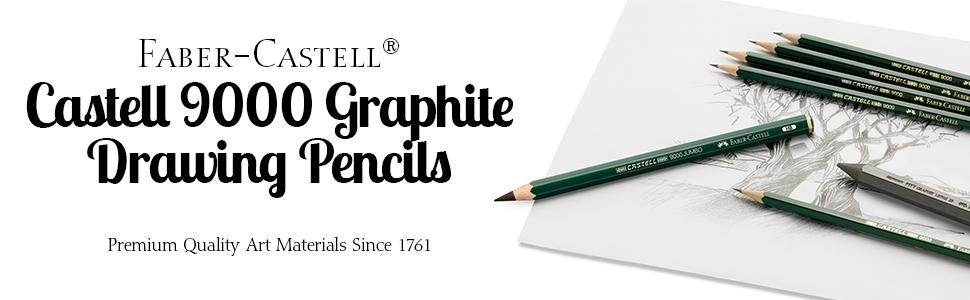 12Pcs Faber Castell Art Graphite Pencils Writing Sketch Charcoal  Artist Drawing