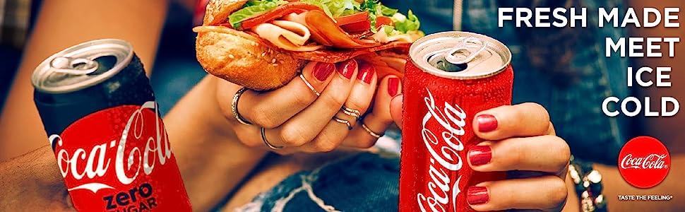 Enjoy Coca-Cola's crisp