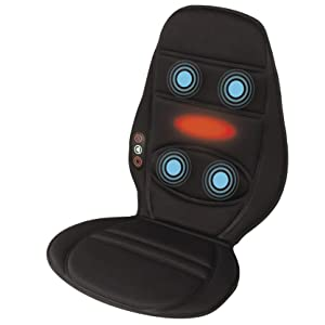 massage chair for car. soothing heat \u0026 vibration massage chair for car g