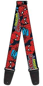Spiderman Amazing Spidey Peter Parker Marvel Comics Acoustic Electric Guitar Strap