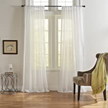 Elrene Home Fashions Asher Sheer Window Curtain Collection