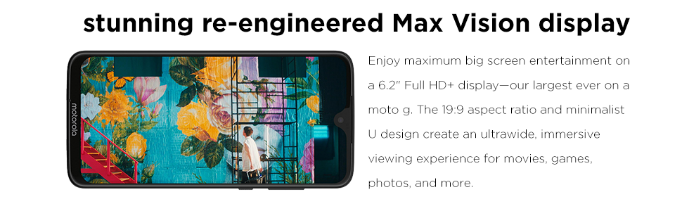Moto G7, Max Vision Display, Full HD
