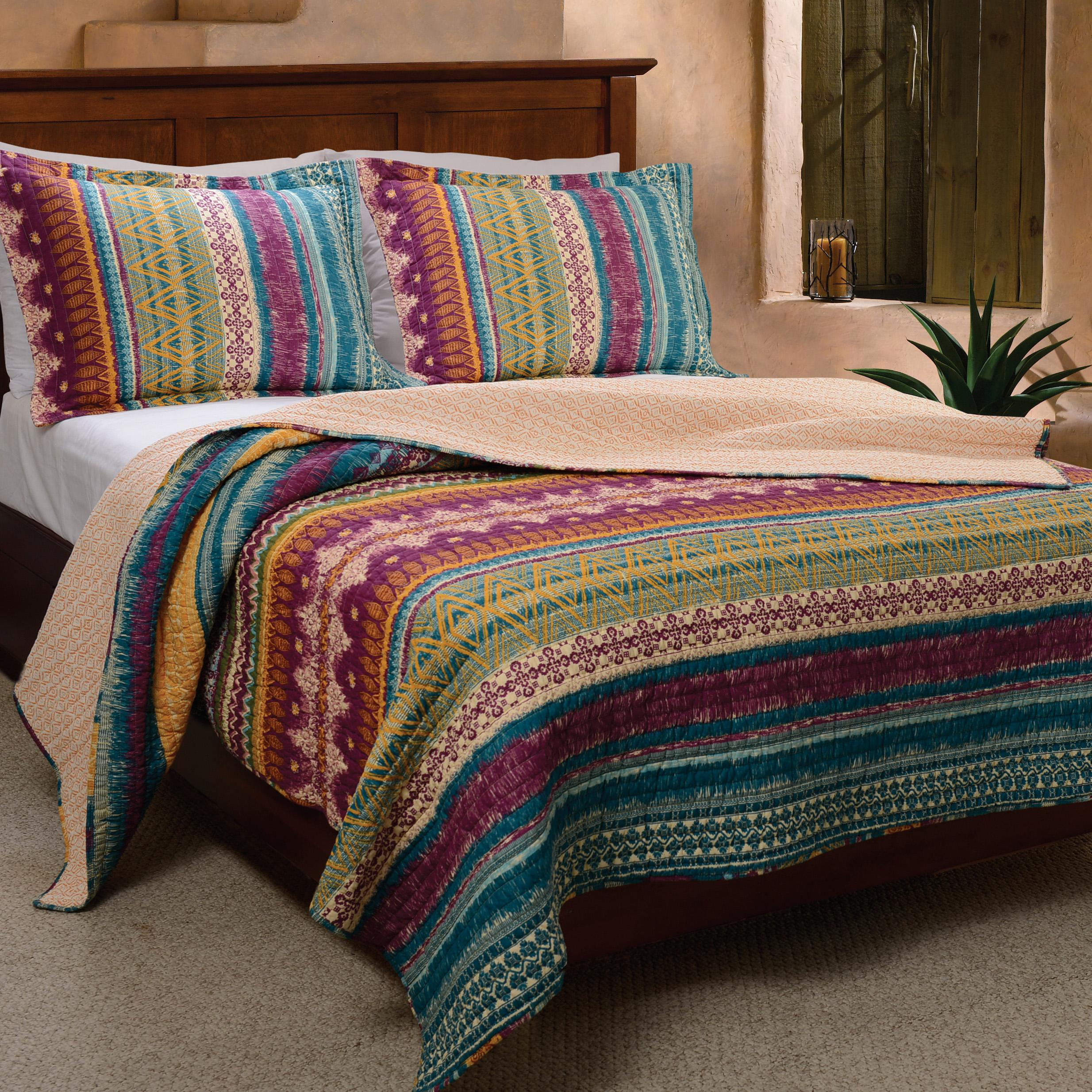 Greenland home esprit spice quilt set king for Quilted kitchen set