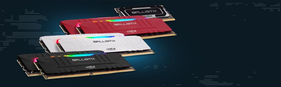 Negro 8GB x2 Memoria Gamer para Ordenadores de sobremesa DDR4 CL15 16GB Crucial Ballistix BL2K8G30C15U4B 3000 MHz DRAM