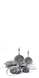 GreenPan, ceramic, nonstick, cookware, set