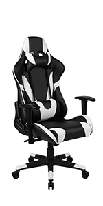 Flash Furniture X20 Gaming Chair PC Adjustable Swivel Chair with Fully Reclining Back
