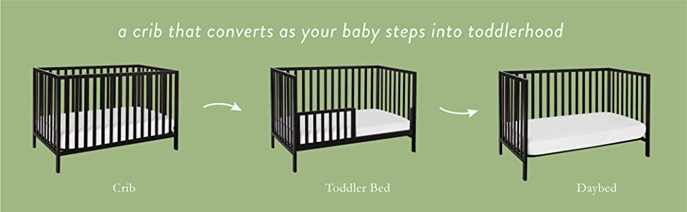 union crib convertible daybed toddler bed rail