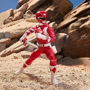 original red ranger; action figure; mighty morphin; power rangers villains; toys for boys; ninja toy