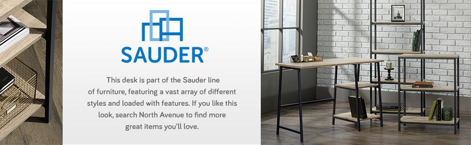 Sauder North Avenue Desk in a Charter Oak finish