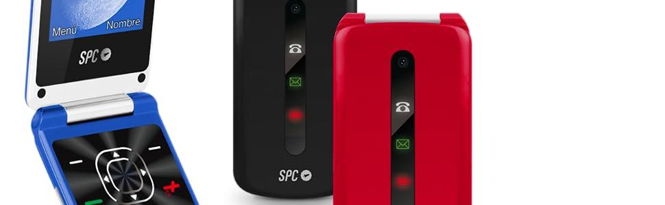 SPC Epic - Teléfono móvil (Números y letras grandes, Agenda hasta ...