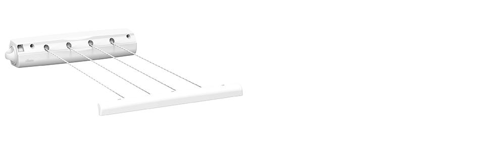 Corde à linge Vileda Rewind 4 extensible pour intérieur et extérieur