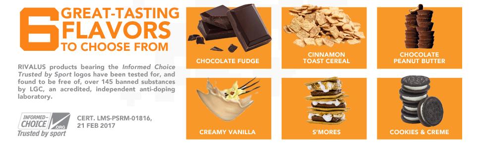 flavors cinnamon toast cereal chocolate fudge peanut butter vanilla smores cookies creme