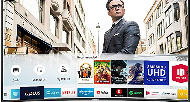 Samsung NU7500 smart tv with universal guide image