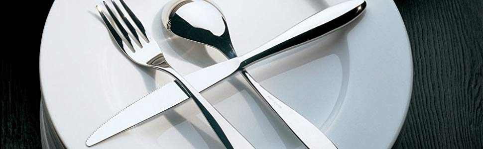 Set of 6 SG38//4 Alessi Mami 6-3//4-Inch Dessert Spoon 18//10 Stainless Steel Mirror Polish