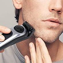 Stubble, short beard & hair clipping