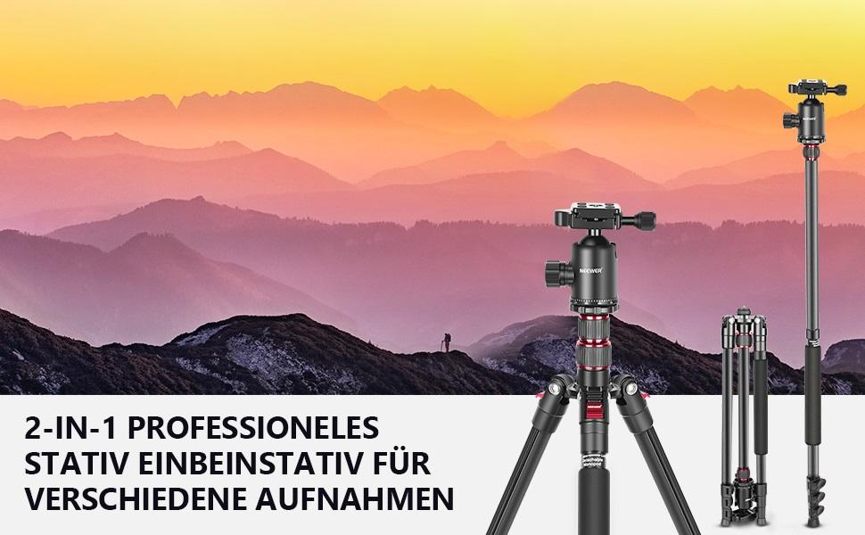 Neewer 77 Zoll Stativ Für Dslr 2 In 1 Aluminium Stativ Kamera