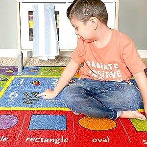 ABC learning rug daycare rug fun rug educational rug play rug