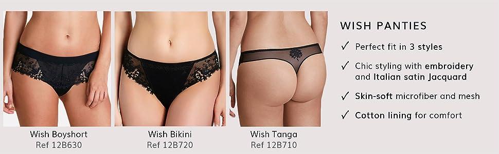 Simone Perele, Simone Perele, Panties, French Lingerie, 12B710, Simone Perele Wish, Tanga, Thong