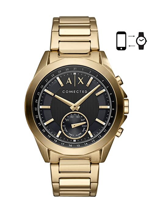 armani exchange hybrid watch  Armani Exchange Men's Smartwatch Powered with Wear OS by Google with Heart Rate, GPS, NFC, and Smartphone Notifications e90bd04f f5a2 44a3 9689 952ee94f73e2